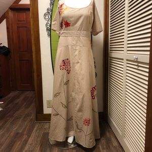 New eShatki Pinstriped Embroidered Dress 24W
